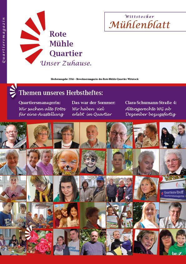 Herbstausgabe 2014 – Bewohnermagazin des Rote-Mühle-Quartier Wittstock