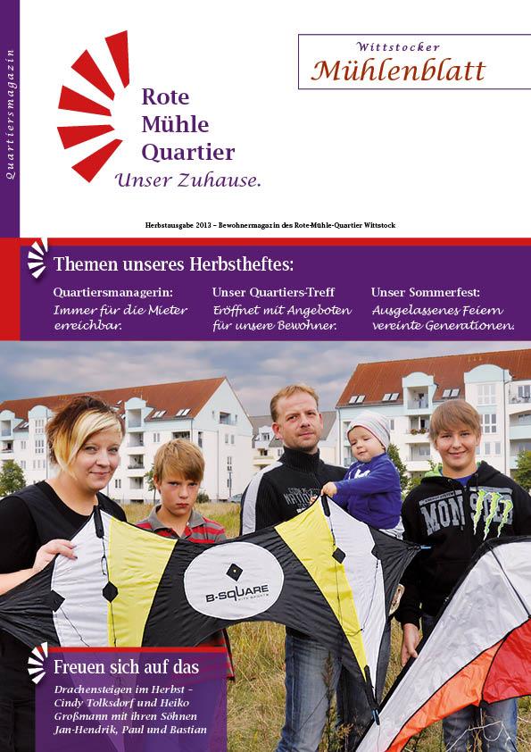 Herbstausgabe 2013 – Bewohnermagazin des Rote-Mühle-Quartier Wittstock