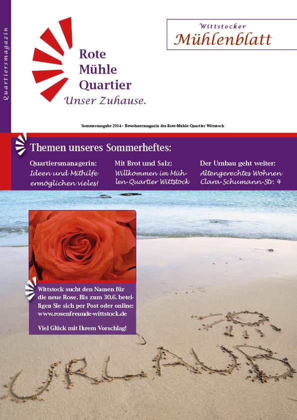 Sommerausgabe 2014 – Bewohnermagazin des Rote-Mühle-Quartier Wittstock