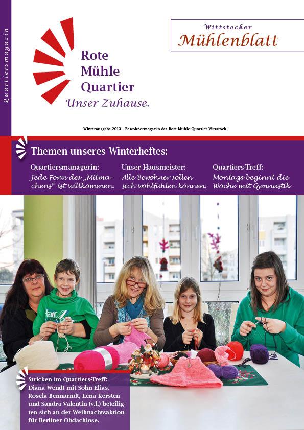Winterausgabe 2013 – Bewohnermagazin des Rote-Mühle-Quartier Wittstock