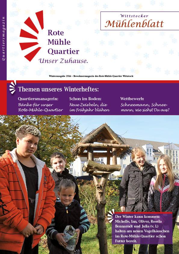 Winterausgabe 2014 – Bewohnermagazin des Rote-Mühle-Quartier Wittstock