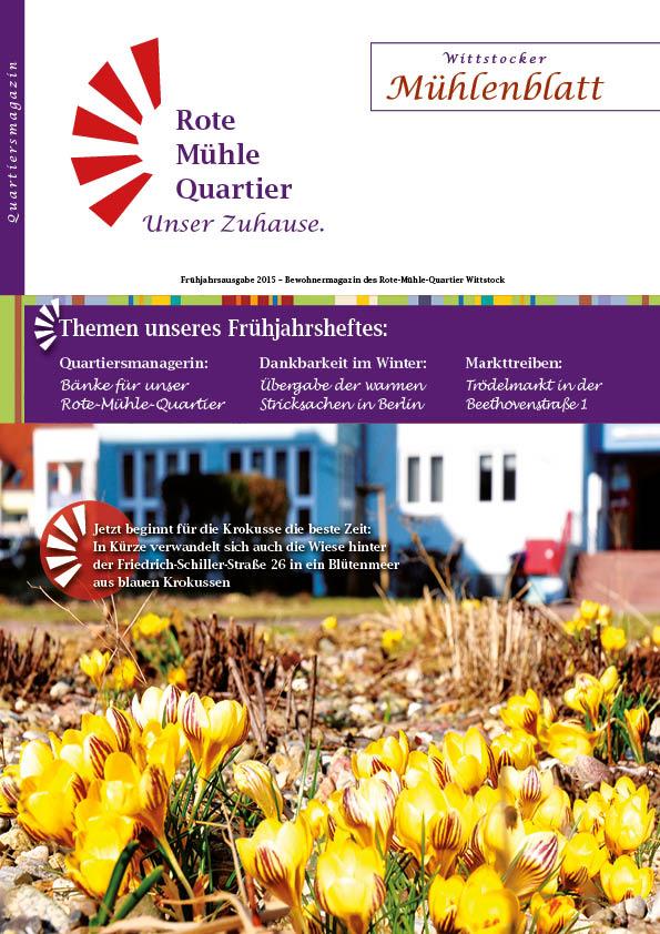Frühjahrsausgabe 2015 – Bewohnermagazin des Rote-Mühle-Quartier Wittstock