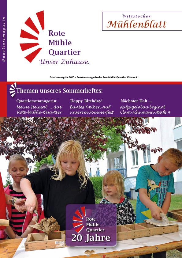 Sommerausgabe 2015 – Bewohnermagazin des Rote-Mühle-Quartier Wittstock