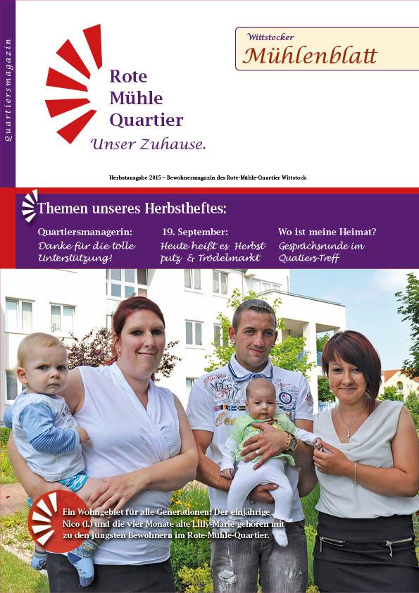 Herbstausgabe 2015 – Bewohnermagazin des Rote-Mühle-Quartier Wittstock