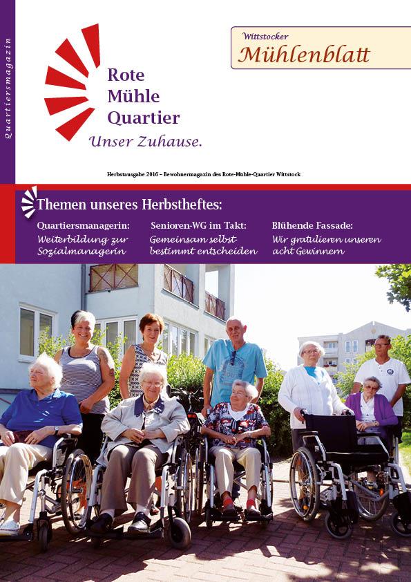Herbstausgabe 2016 – Bewohnermagazin des Rote-Mühle-Quartier Wittstock