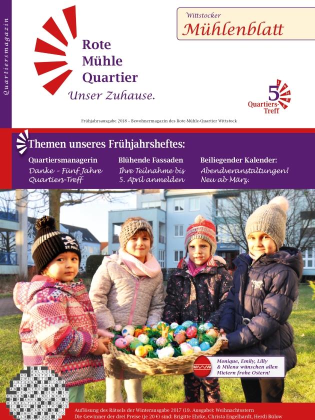 Frühjahrsausgabe 2018 – Bewohnermagazin des Rote-Mühle-Quartier Wittstock