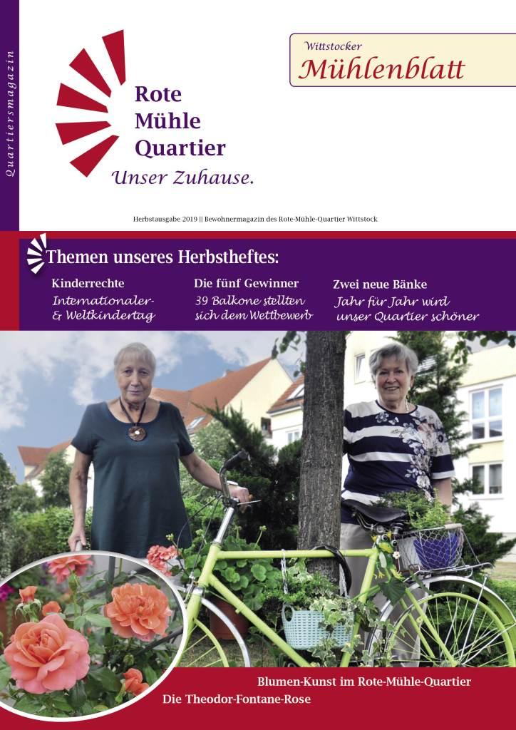 Herbst 2019 Zeitschrift des Rote Mühle Quartier Wittstock